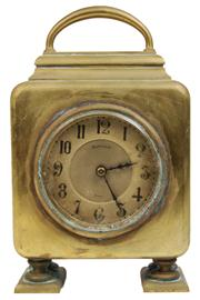 Sale 7978 - Lot 4 - Maple & Co Paris Brass Mantle Clock