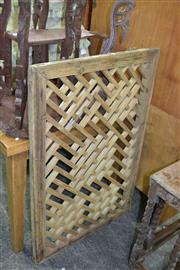 Sale 7987A - Lot 1262 - Timber Panel Screen
