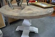 Sale 8013 - Lot 1263 - Circular Dining Table on White Base