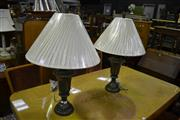 Sale 8093 - Lot 1400 - Pair of Urn Form Table Lamps