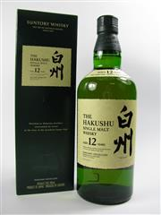 Sale 8329 - Lot 587 - 1x Suntory Whisky The Hakushu Distillery 12YO Single Malt Japanese Whisky - in box