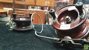Sale 8395 - Lot 1056 - Vintage Bakelite Alvey Fishing Reel with Timber Example - both with line guides