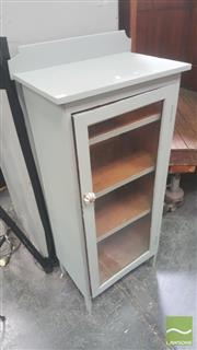 Sale 8424 - Lot 1067 - Painted Single Door Cabinet with Three Shelves