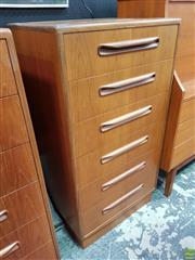 Sale 8566 - Lot 1040 - G-Plan Teak Tall Boy Chest