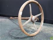 Sale 8566 - Lot 1032 - 1926 Dodge Timber Steering Wheel