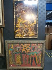 Sale 8650 - Lot 2078 - Two South East  Asian Pictures