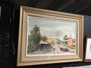 Sale 8753 - Lot 2096 - John Upton - Sofala watercolour, 50 x 80cm (frame) signed lower right