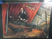 Sale 8776 - Lot 2008 - Soviet Union Propaganda Painting, size 90 x 120cm