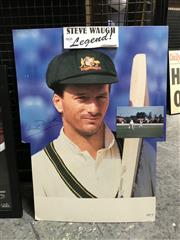 Sale 8805A - Lot 868 - Steve Waugh, Legend, life-size portrait on hard card, signed.