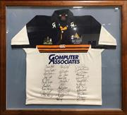 Sale 8863S - Lot 25 - ACT Brumbies Signed Jersey, in frame