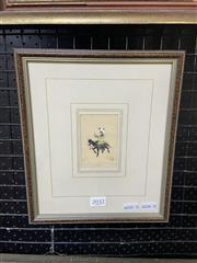 Sale 8998 - Lot 2032 - An Indo-Persian Miniature of a Young Boy on Horse Back, 26 x 22cm (frame)