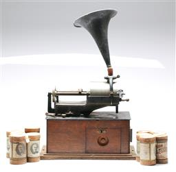 Sale 9093 - Lot 25 - Edison Concert Phonograph With A Box Of Rolls
