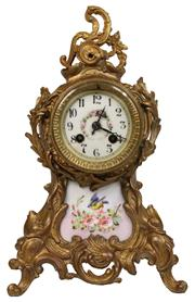 Sale 7978 - Lot 72 - Gilded Bronze Mantle Clock