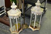 Sale 7987A - Lot 1149 - Pair of Lanterns with Glass Panels