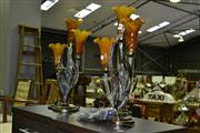 Sale 8013 - Lot 1049 - Pair of Tulip Form Table Lamps