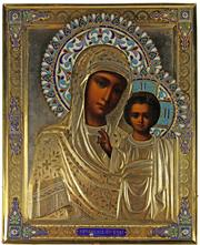 Sale 8057 - Lot 41 - Good Mother of Kazan Icon