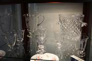 Sale 8116 - Lot 96 - Crystal Cut Champagne Bucket with an Etched Glass Drinks Suite