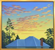Sale 8254 - Lot 512 - Guy Gilmour (1955 - ) - Untitled (Blue Rooftop) 91.5 x 101cm