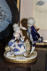 Sale 8296 - Lot 14 - Untereissbich Figural Group