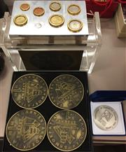Sale 8310A - Lot 347 - A quantity of assorted commemorative coins, and a perspex box