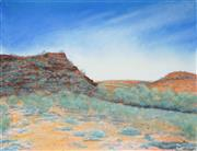 Sale 8509 - Lot 2035 - J Bligh - Travelling along the Finke River, Estuary River Series IV frame size: 89 x 124cm