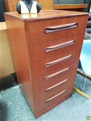 Sale 8585 - Lot 1098 - G-Plan Teak Tall Boy Chest