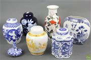 Sale 8621 - Lot 86 - Contemporary Blue and White Ginger Jars Together with other Eastern Wares inc Japanese