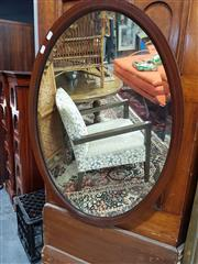 Sale 8680 - Lot 1057 - Oval Shaped Timber Framed Bevelled Edge Mirror
