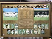 Sale 8805A - Lot 806 - Benson & Hedges - Oz, NZ and Indian teams 1980-81, framed.