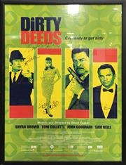 Sale 8863S - Lot 36 - Dirty Deeds Signed Movie Poster, in frame
