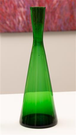 Sale 9248H - Lot 172 - A Green glass conical tapering vase,. height 35cm