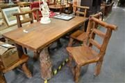Sale 8013 - Lot 1401 - Lord of the Rings Table w 6 Chairs