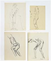 Sale 8113A - Lot 20 - Earle I. Backen (1927 - 2005) Attributed. - Collection of (40) Nude Studies various sizes