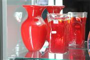 Sale 8160 - Lot 50 - Red Art Glass Vase with Another Art Glass Vase