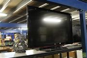 Sale 8217 - Lot 2102 - Large LG Flat Screen TV (Remote & Cords in Office)