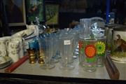 Sale 8396C - Lot 21 - Mini Milkshake Glasses with Other Glasswares incl. Lager Glasses