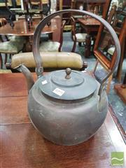 Sale 8416 - Lot 1095 - Large Copper Kettle, with arched handle & spout cover