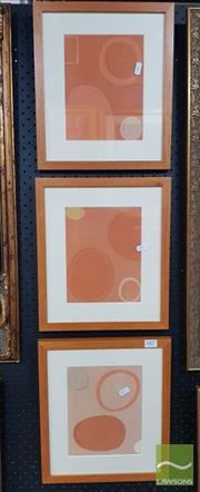 Sale 8548 - Lot 2016 - Artist Unknown (3 works) - Abstract Orange 21 x 17cm, each