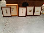 Sale 8682 - Lot 2088 - 5 Framed Artworks