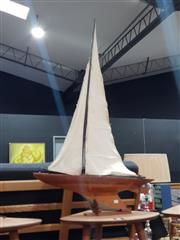 Sale 8863 - Lot 1052 - Timber Pond Yacht on Stand