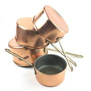Sale 8872C - Lot 32 - Set of 4 French Copper Saucepans, diameter of largest 21cm