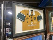 Sale 8888 - Lot 2094 - Joe Roff Framed Australian Wallabies Jersey