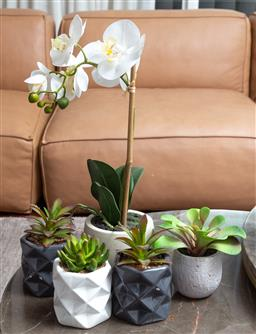 Sale 9150H - Lot 115 - A collection of faux plants, tallest Height 45cm