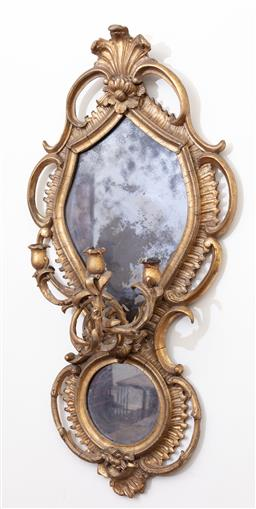 Sale 9190H - Lot 285 - Continental mirror, Height 104cm