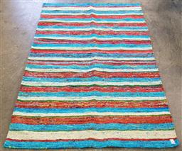 Sale 9188 - Lot 1398 - Multicoloured wool and silk handwoven carpet - reversible (185 x 118cm)