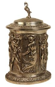 Sale 7937 - Lot 91 - Silver Plated Lidded Canister