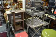 Sale 8035 - Lot 1094 - Outdoor Timber Table & 3 Timber Armchairs
