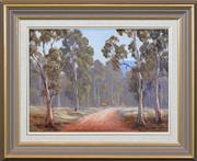 Sale 8301A - Lot 77 - Pat Murphy (active 1980s) - Grazing Along the Dirt Track 31 x 41cm