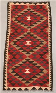 Sale 8445K - Lot 74 - Maimana Afghan Kilim Rug , 183x93cm, Handwoven in Northern Afghanistan using durable local wool. Traditional and reversible slit wea...