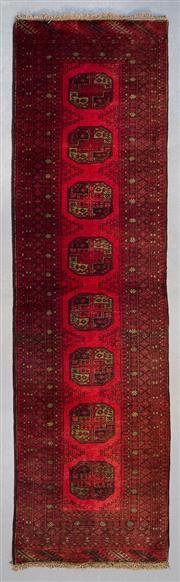 Sale 8480C - Lot 68 - Approx. 30 Years Old Qunduzi Runner 300cm x 81cm